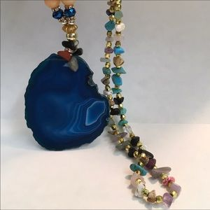 Jewelry - STATEMENT NECKLACE, MULTI-GEMSTONE AND BLUE ONYX